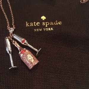 Jewelry - Kate spade Make Magic Champagne Flute Necklace